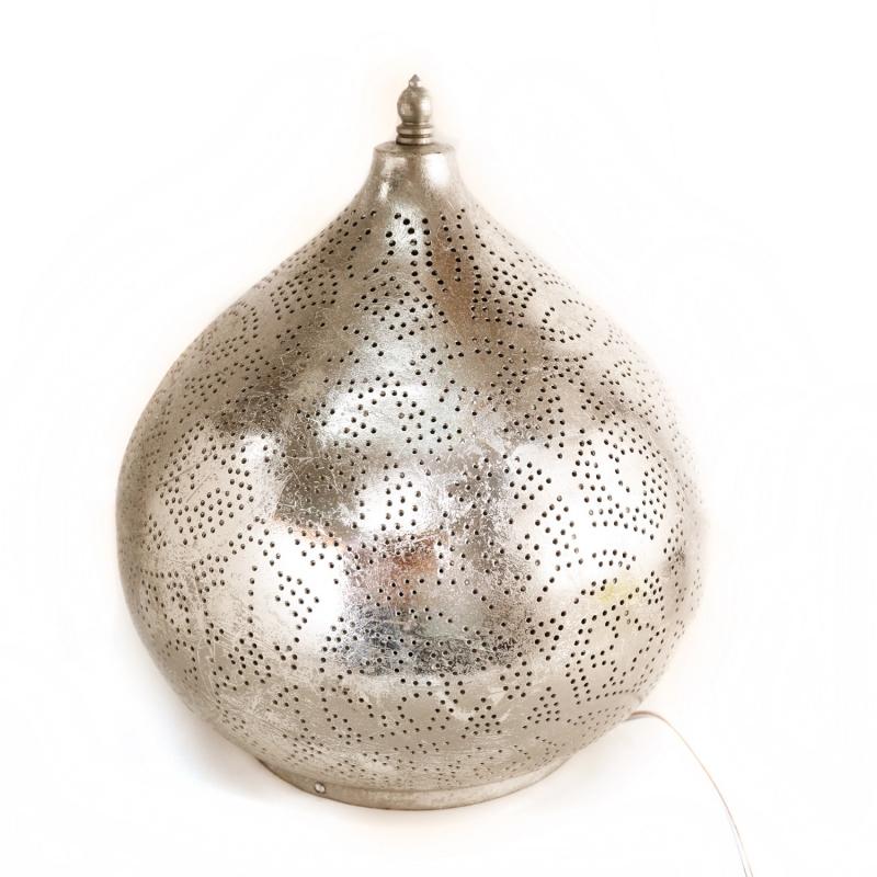 Oosterse Tafellamp Zilver Oni