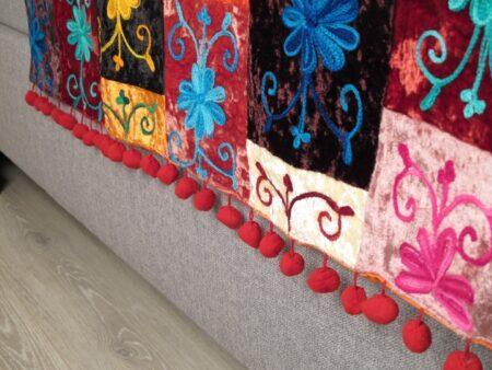 Oosterse sprei | Bedspreien | Sundar | Multi-colour | Oosterse slaapkamer creëren met Oosterse lampen en spreien