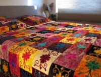 Oosterse bedsprei   multi-colour   Oosterse slaapkamer   Kleurrijke bed kleden   Spreien   Oosterse lampen   Oosters interieur   Gratis verzenden   Scherpe prijzen