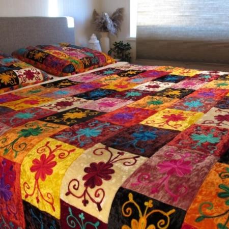 Oosterse bedsprei | multi-colour | Oosterse slaapkamer | Kleurrijke bed kleden | Spreien | Oosterse lampen | Oosters interieur | Gratis verzenden | Scherpe prijzen