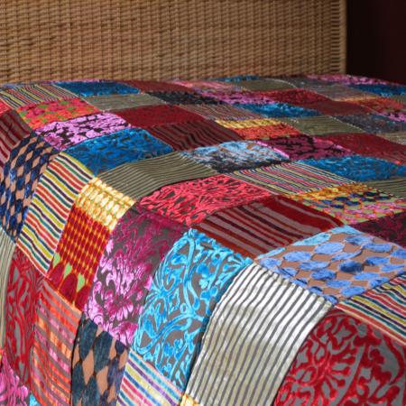Oosterse bedsprei | Patchwork | Marokkaans kleed | Oosterse lampen | Gratis verzenden
