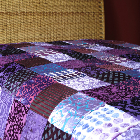 Oosterse bedsprei | Marokkaanse sprei | Patchwork | Oosterse lamp | Woondecoratie | Paars | Oosterse sprei