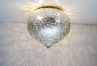 Oosterse plafonnière | Vintage zilver | Plafondlamp | Arabische lampen | Amsterdam