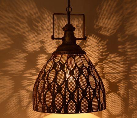 Oosterse hanglamp | Filigrain | Vintage koper | Oosterse lampen | Arabische verlichting