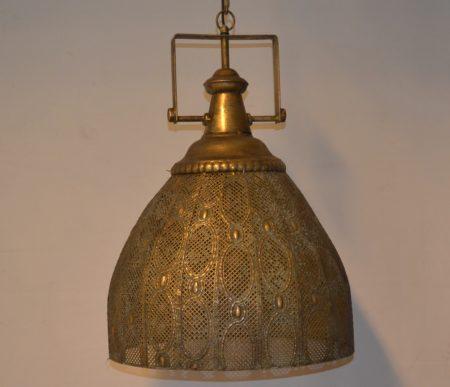 Oosterse hanglamp Filigrain | Arabische lamp | Marokkaanse lampen | Metaal | Industriële lamp | Koper