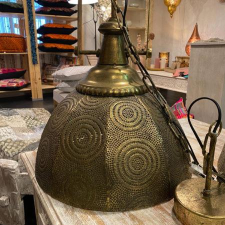 Oosterse hanglamp | filigrain | Brons | Arabische lamp | oosterse lampen | Metaal | Gaatjes patroon | Oosterse inrichting