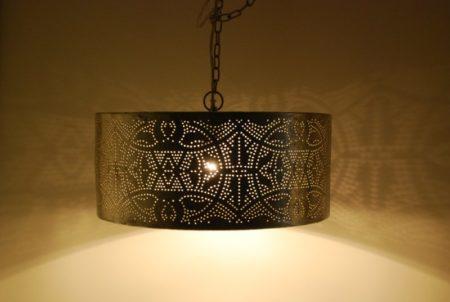 Oosterse hanglamp | Vintage zilver | Cilinder | Oosterse lampen | Marokkaanse lamp