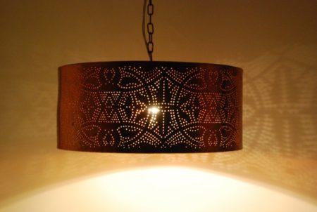 Oosterse hanglamp | Filigrain | Cilinder | Gaatjes lamp | Marokkaanse lampen | Arabische hanglamp