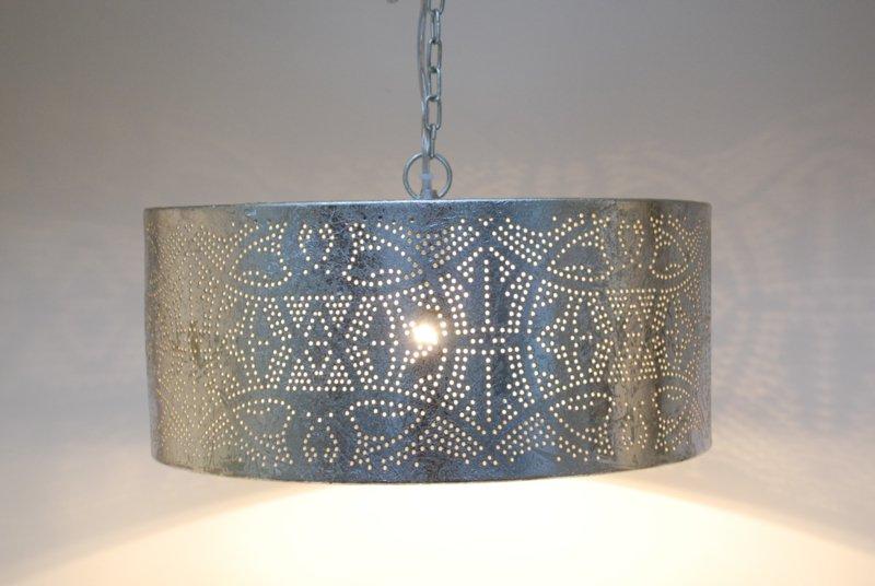 Beste Oosterse hanglamp Filigrain zilver | Marokkaanse lampen | Gratis AK-37
