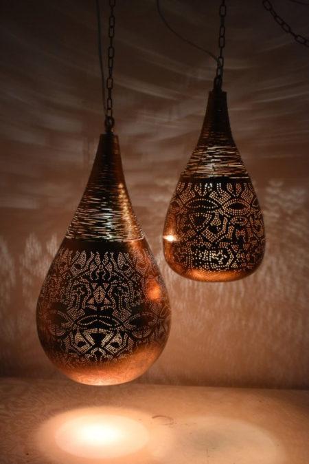 Oosterse hanglamp | filigrain | Arabische lamp | Vintage koper | Oosterse lampen | Marokkaanse verlichting