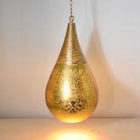 Oosterse hanglamp | filigrain | Vintage goud | Oosterse lampen | Oosterse verlichting | Marokkaanse lamp