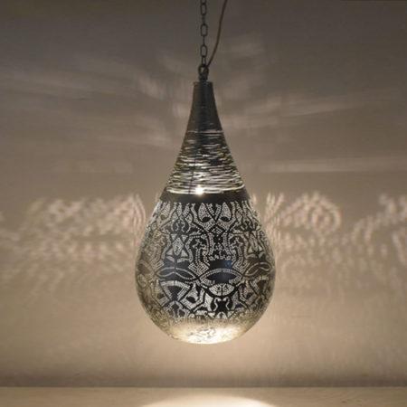 Oosterse hanglamp | Oosterse lampen | Marokkaanse lamp | Oosterse verlichting |Oosterse lamp | Zilver
