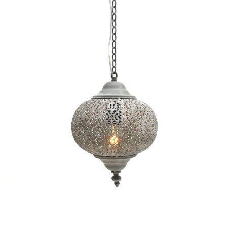 Oosterse hanglamp | Filigrain | Grijs | Marokkaanse hanglampen | Oosterse lamp
