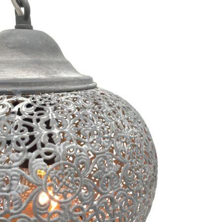 Oosterse hanglamp | Grijs | Marokkaanse lampen | Oosterse lamp | sfeerverlichting | Metaal | Arabisch filigrain | Scherpe prijzen