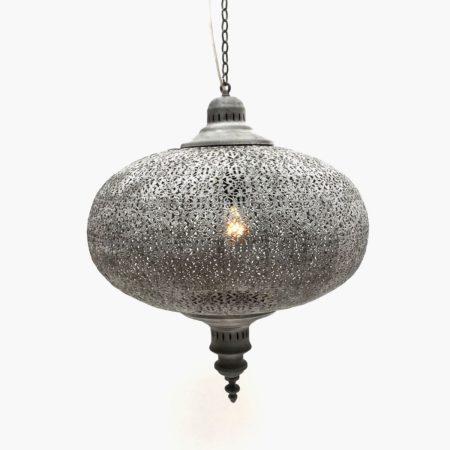 Oosterse hanglamp | Grijs | Marokkaanse lampen | Oosterse verlichting | Arabisch interieur | Online | Scherpe prijzen