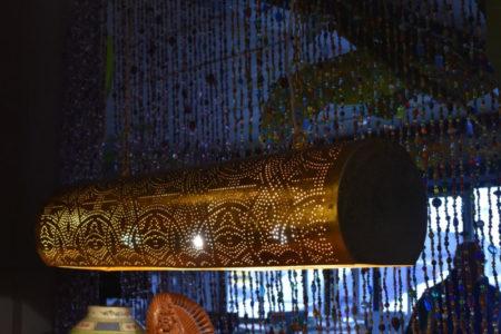 Oosterse hanglamp | Vintage goud | Filigrain | Oosterse verlichting | Marokkaanse lampen | Moderne Oosterse lamp