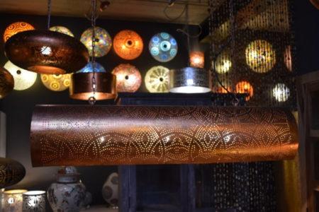 Oosterse hanglamp | Oosterse lampen | Vintage koper | Luxe oosterse lamp