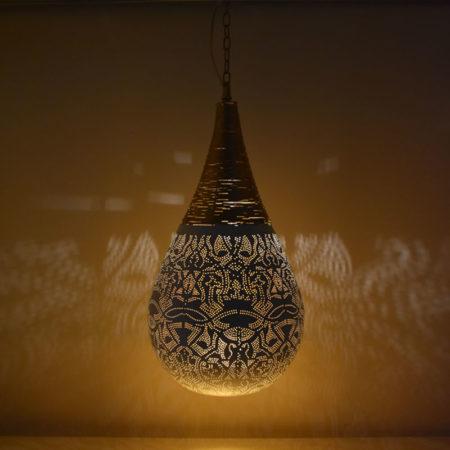 Oosterse lampen | filigrain | Oosterse hanglamp | Marokkaanse lamp | Arabische moderne lampen | Wit | Goud