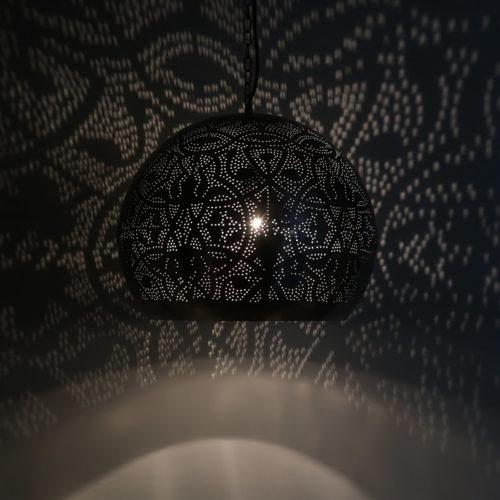 Oosterse lampen | Filigrain lamp | Marokkaanse lampen | Zilver zwart
