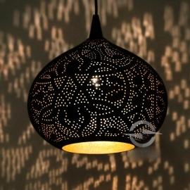 Oosterse hanglamp | Filigrain | Oosterse lampen | zwart vintage goud | Oosterse lampen