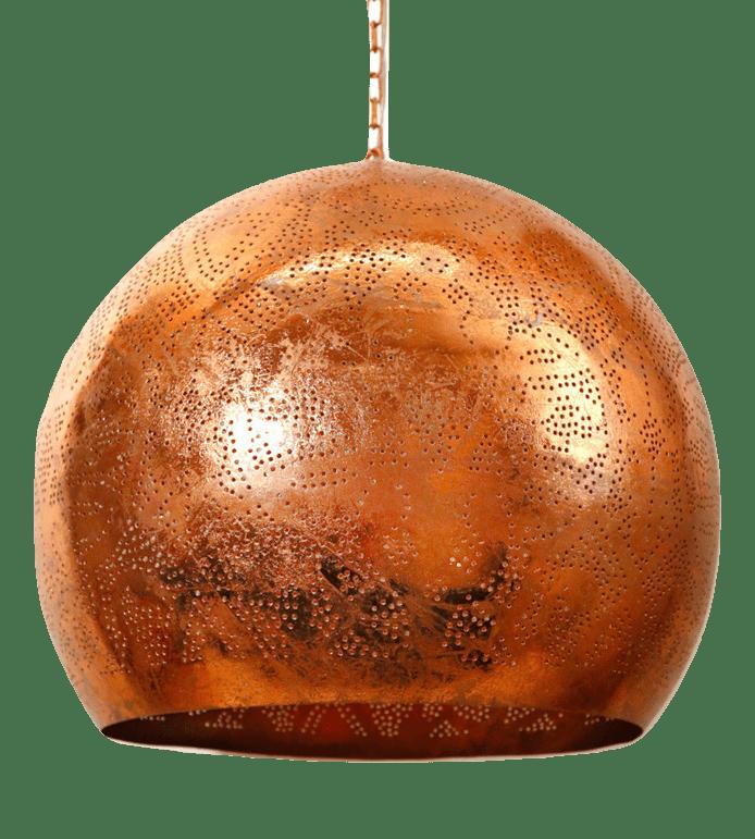 Oosterse hanglamp | Vintage koper | Filigrain | Met open onderkant | Oosterse lamp met prachtig effect op de wand en het plafond | Arabische lamp | Grote Oosterse hanglampen Xl voor de scherpste prijzen online | Snelle levering en goede service | Oosterse lampen webshop voor een sfeervol interieur