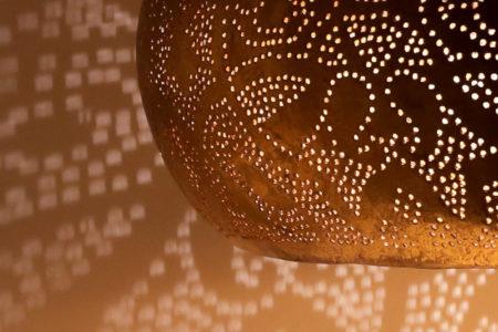 Marokkaanse lamp | Filigrain hanglamp | Oosterse lampen | vintage goud | Amsterdam
