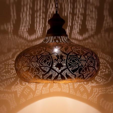 Hanglamp filigrain style | Marokkaanse lamp | Oosterse lampen | Vintage goud | Amsterdam
