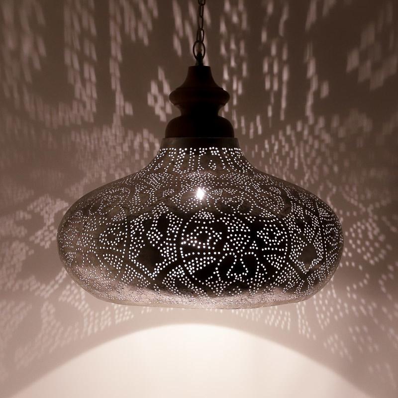 Ongekend Oosterse hanglamp filigrain style zilver | Omdat verlichting BQ-41