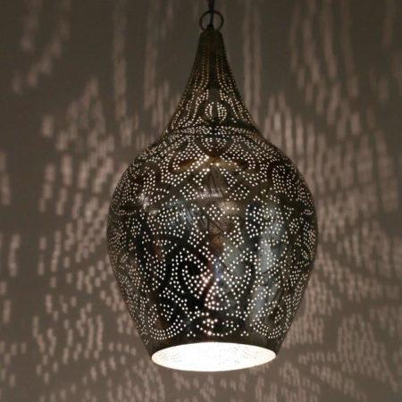 Oosterse hanglamp | Marokkaanse lampen | Filigrain | Zilver | Oosterse lampen | Gratis bezorging | Onderhoudsvrij
