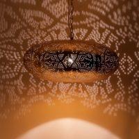 Oosterse hanglamp | Marokkaanse lamp | Filigrain | Goud | Arabische lampen