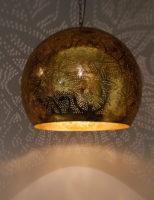 Oosterse hanglamp | Filigrain | Vintage goud | Oosterse lampen | Metalen lamp | Arabische lamp | Marokkaanse verlichting | Oosters interieur