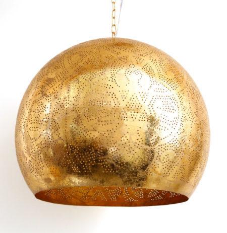 Oosterse hanglamp vintage goud met open onderkant | Arabische lampen | Oosterse lampen | Oosters interieur