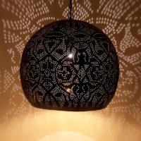 Oosterse hanglamp | Filigrain | Arabische lamp | Marokkaanse verlichting | Gaatjes lamp | Oosterse lampen | Zwart/goud | Gratis bezorgd