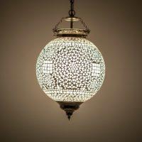 Oosterse hanglamp | Transparant mozaïek | Marokkaanse lamp