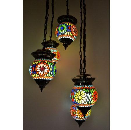 Oosterse hanglamp | Glasmozaiek | Arab lampen | Oosterse lampen | Oosters interieur