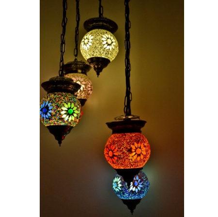 Oosterse hanglamp | Mozaiek | All colours | Arabische lamp | Marokkaanse lampen | Oosters interieur | Online | Scherpe prijzen | Sfeerverlichting
