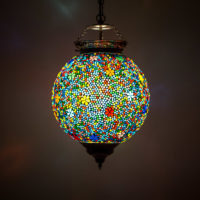 Oosterse lamp | Marokkaanse hanglamp | Arabische lamp | Mozaïek | Oosters interieur