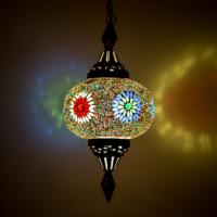 Mozaiek hanglamp | Oosterse lampen | Marokkaanse lamp | Multi colour
