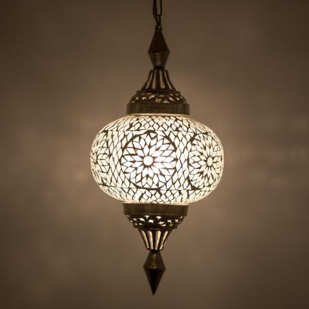 mozaiek hanglamp transparant | Oosterse lampen | Transparant mozaiek
