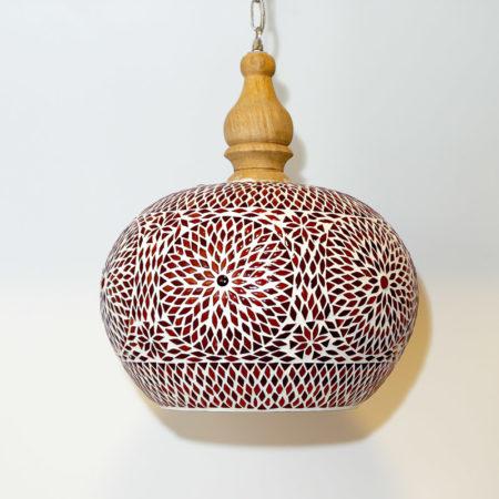 Oosterse lamp met rood oranje glasmozaiek | Sfeervolle Oosterse hanglampen | Online | Beste prijzen snel geleverd