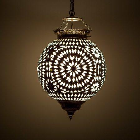 Oosterse lamp mozaïek zwart wit Oosterse lampen Marokkaanse verlichting Arabische sfeerlamp