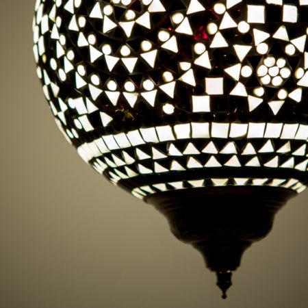 Oosterse hanglamp | Mozaiek lamp | Oosterse lampen | Zwart/wit