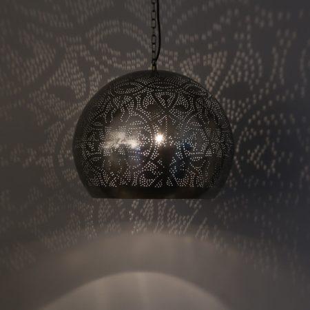 Oosterse hanglamp | Marokkaanse lamp | Oosterse lampen | filigrain | Vintage zilver | Oriëntaalse lampen | Verlichting | Sfeerverlichting