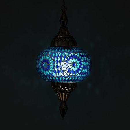 Oosterse hanglamp | Mozaïek | Blauw | Marokkaanse lamp | Lantaarn | Amsterdam