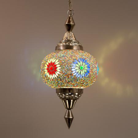 mozaiek hanglamp | Marokkaanse lampen | Oosterse lamp | Multi-colour | Lantaarn | Oosters interieur