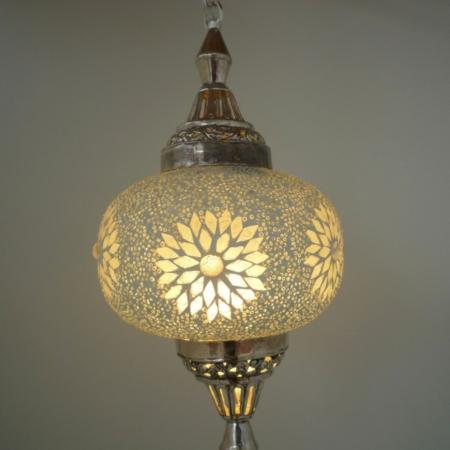 Mozaiek hanglamp | Pompoen | Oosterse lamp | Transparant | Marokkaanse lampen