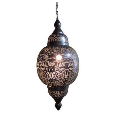 Arabische lamp | Oosterse hanglamp | Filigrain | Zilver | Oosterse lampen