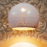 Oosterse hanglamp | Arabisch filigrain | Open onderkant | Oosterse lamp | Marokkaanse lampen