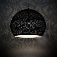 Oosterse lamp | Marokkaanse hanglamp | Oosterse lampen | Arabisch filigrain | Zilver | Sfeerverlichting