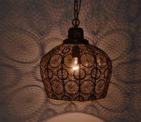 Oosterse lamp | Filigrain | Brons | Marokkaanse hanglamp | Gratis verzenden NL & België
